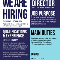 We are Hiring - Director Regulations and Compliance